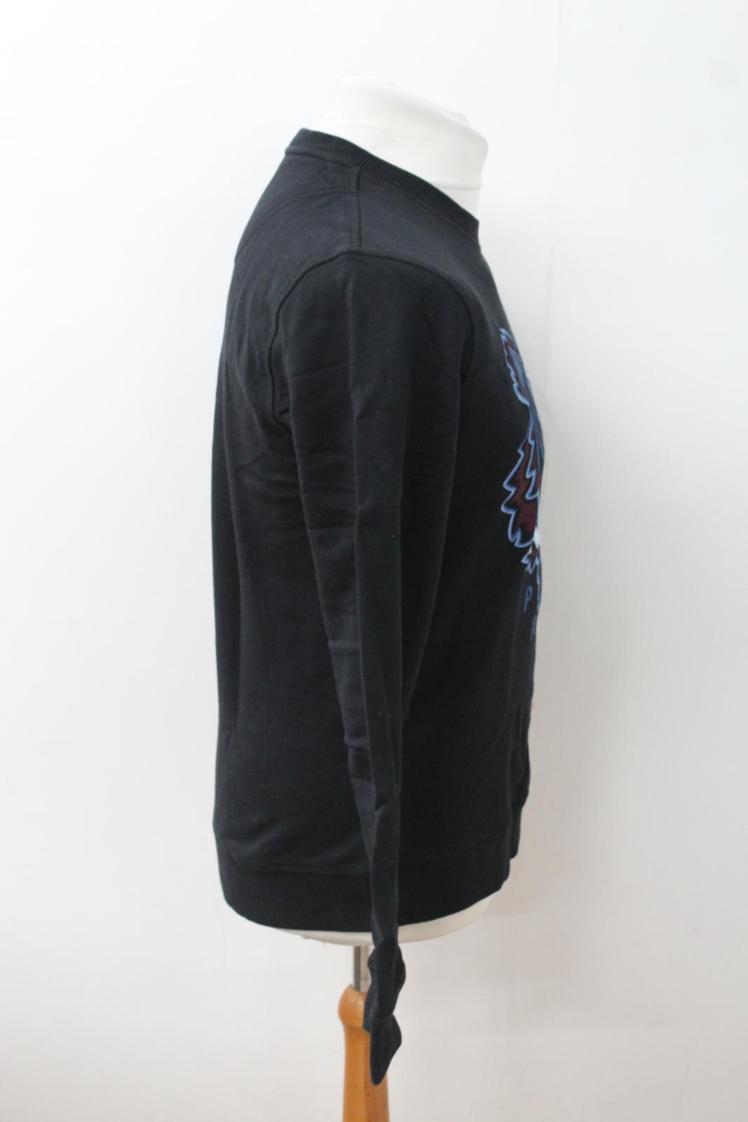 a3c71648 KENZO Men's Black & Blue Tiger Head Logo Crew Neck Jumper Sweatshirt Size M  3 3 of 12 ...