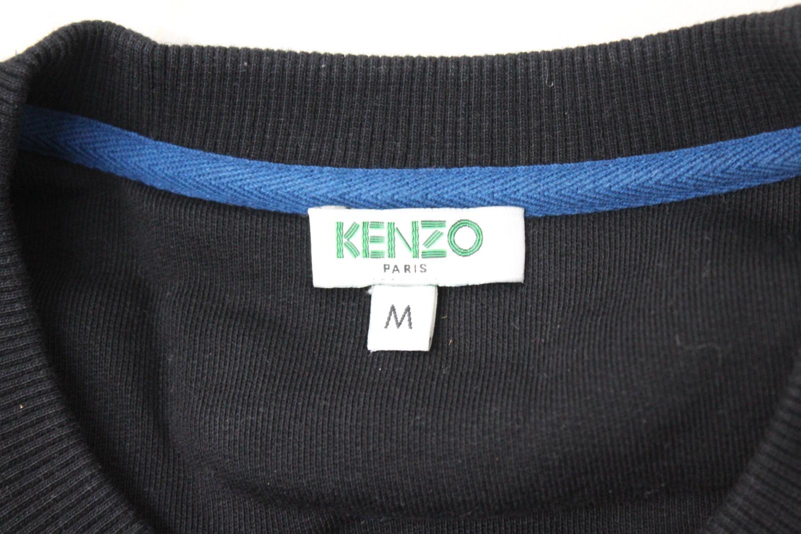 3c7c32ed KENZO Men's Black & Blue Tiger Head Logo Crew Neck Jumper Sweatshirt Size M  7 7 of 12 ...
