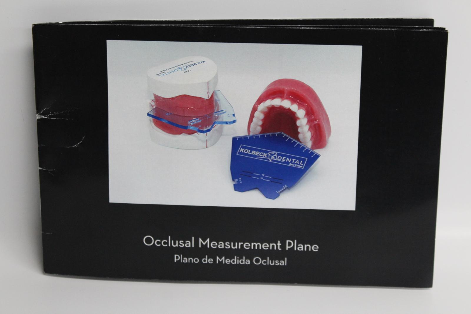 KOLBECK Blue Dental Teeth Occlusal Measurement Plane With Instruction Guide 2