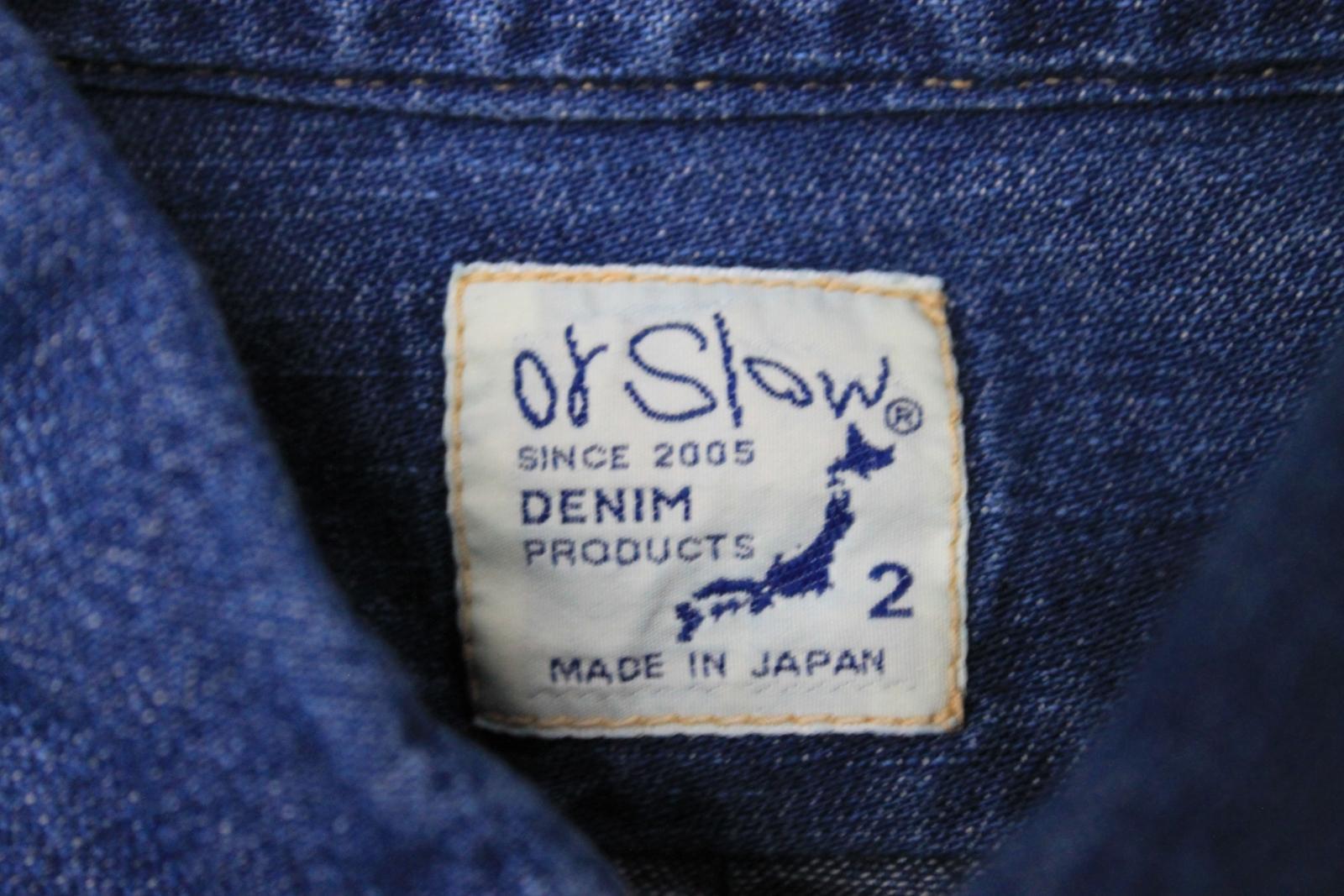 Orslow-Hombres-Azul-Algodon-Denim-Con-Cuello-Botones-camisa-de-mangas-largas-Talla-XL miniatura 10