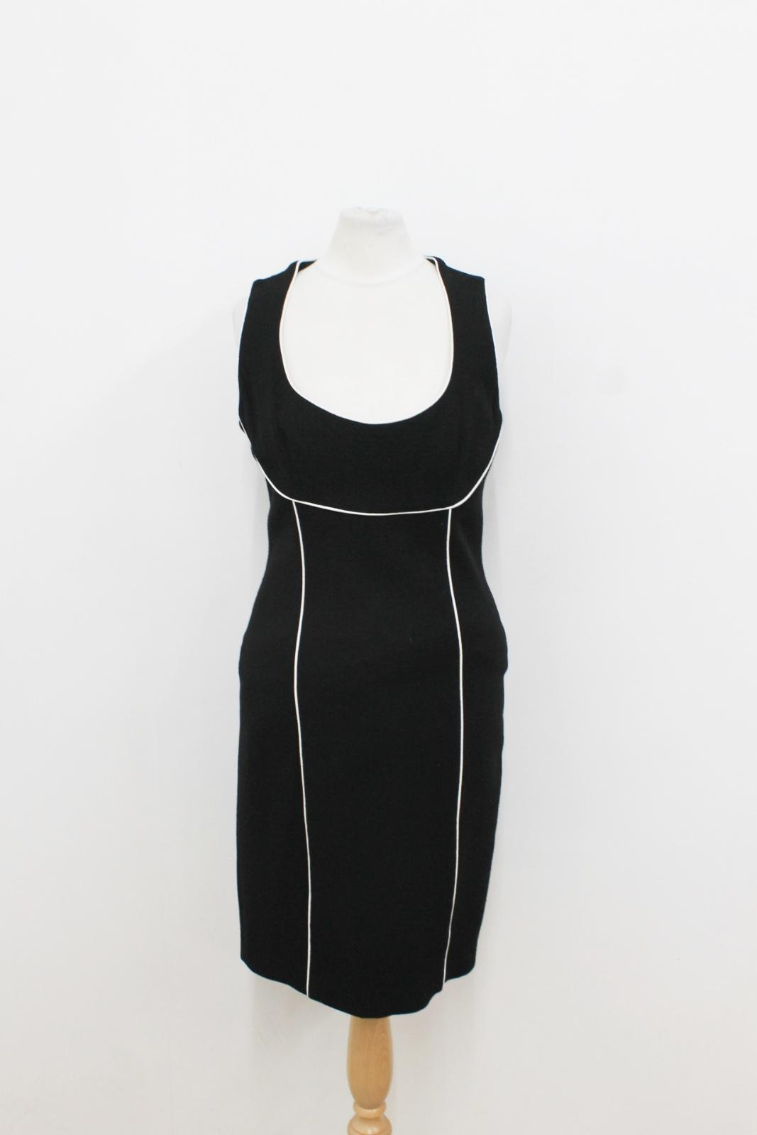 BNWT GIO'GUERRERI Ladies schwarz schwarz schwarz Weiß Sleeveless Shift Dress Größe IT42 UK10 365734