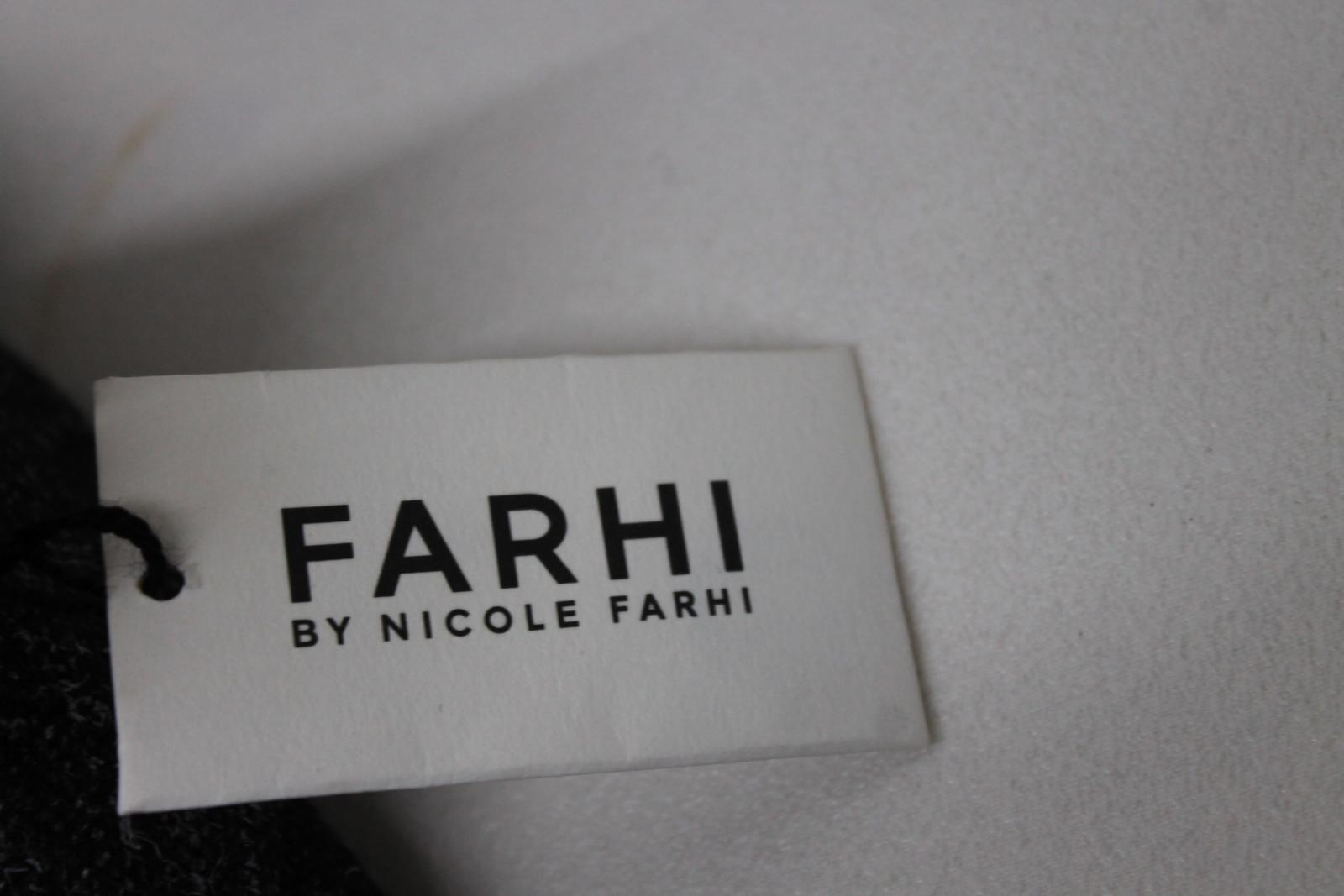 BNWT NICOLE FARHI Ladies Ladies Ladies Dark grau Wool Blend Pleated TailGoldt Trousers UK10 d16b4b