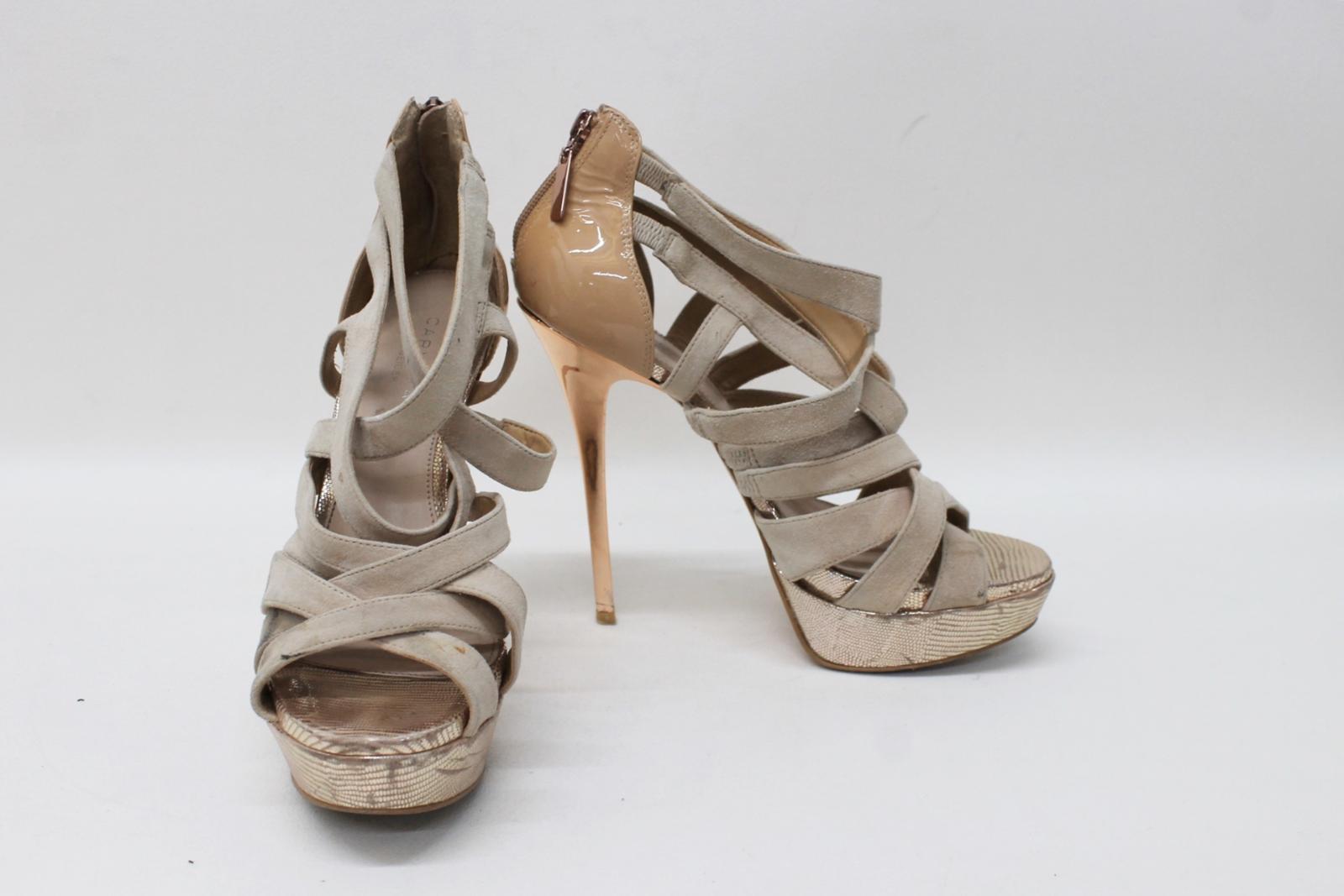 Carvela Eu41 Kurt Shoes Heeled Uk8 Suede Geiger Sandals High Beige Ladies 7RR1q5