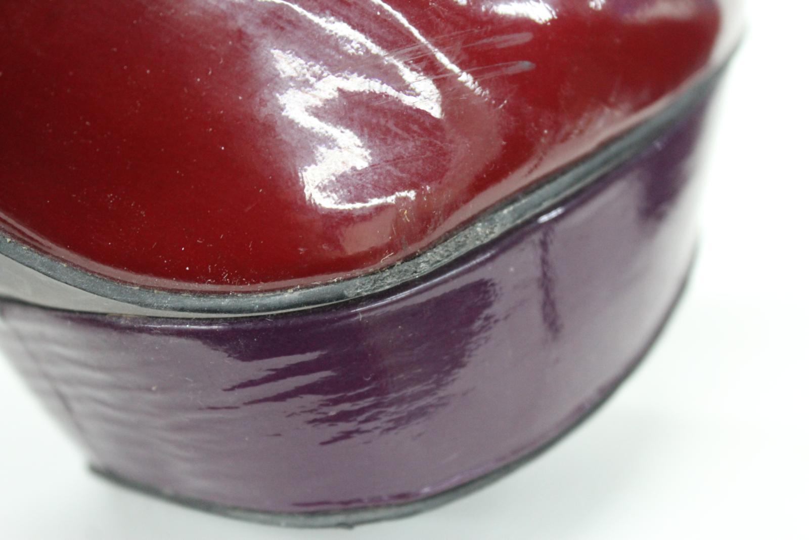 CARVELA Ladies Red & Purple Patent Leather High Heeled Heeled Heeled Court shoes UK7 EU40 51f7dd