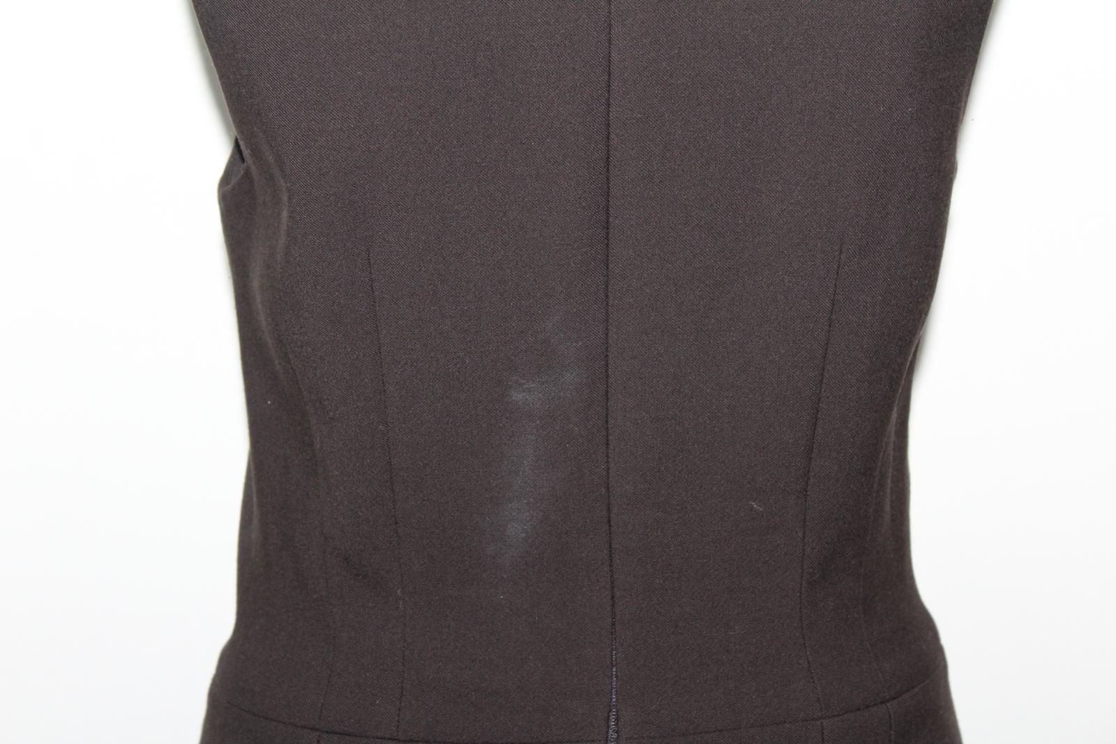 Saba-Senoras-sin-mangas-Marron-Oscuro-Cuello-Redondo-Vestido-Lapiz-Wiggle-UK8-EU36 miniatura 6