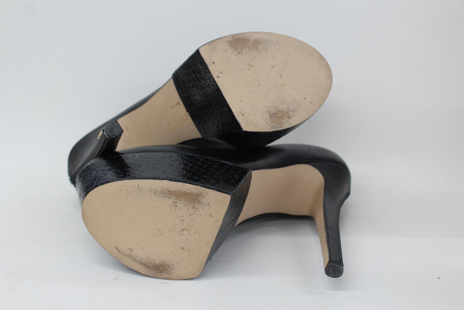 CARVELA KURT GEIGER Ladies Black Leather High High High Heeled Court shoes UK7 EU40 a99f36