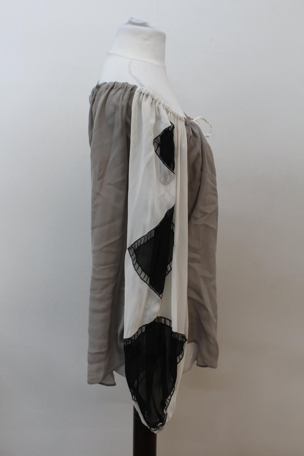 Sheer Ivory London Ladies Blouse Eu36 Out Black Khaki Grey Temperley Uk8 Cut 8fFqIwaaO