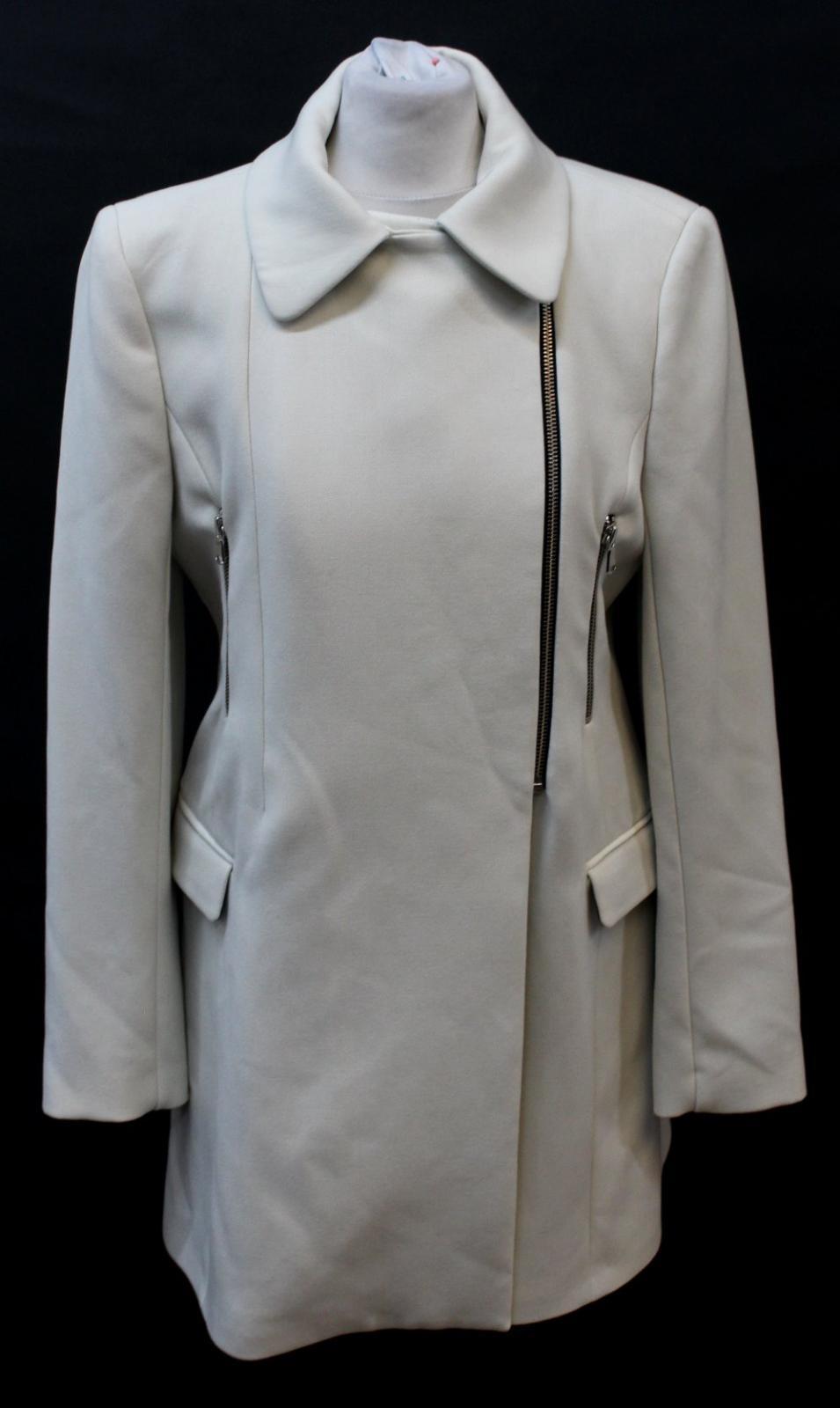 8f99b0c7 ZARA WOMAN Ladies Ivory Asymmetric Zip Collared Neckline Trench Coat ...