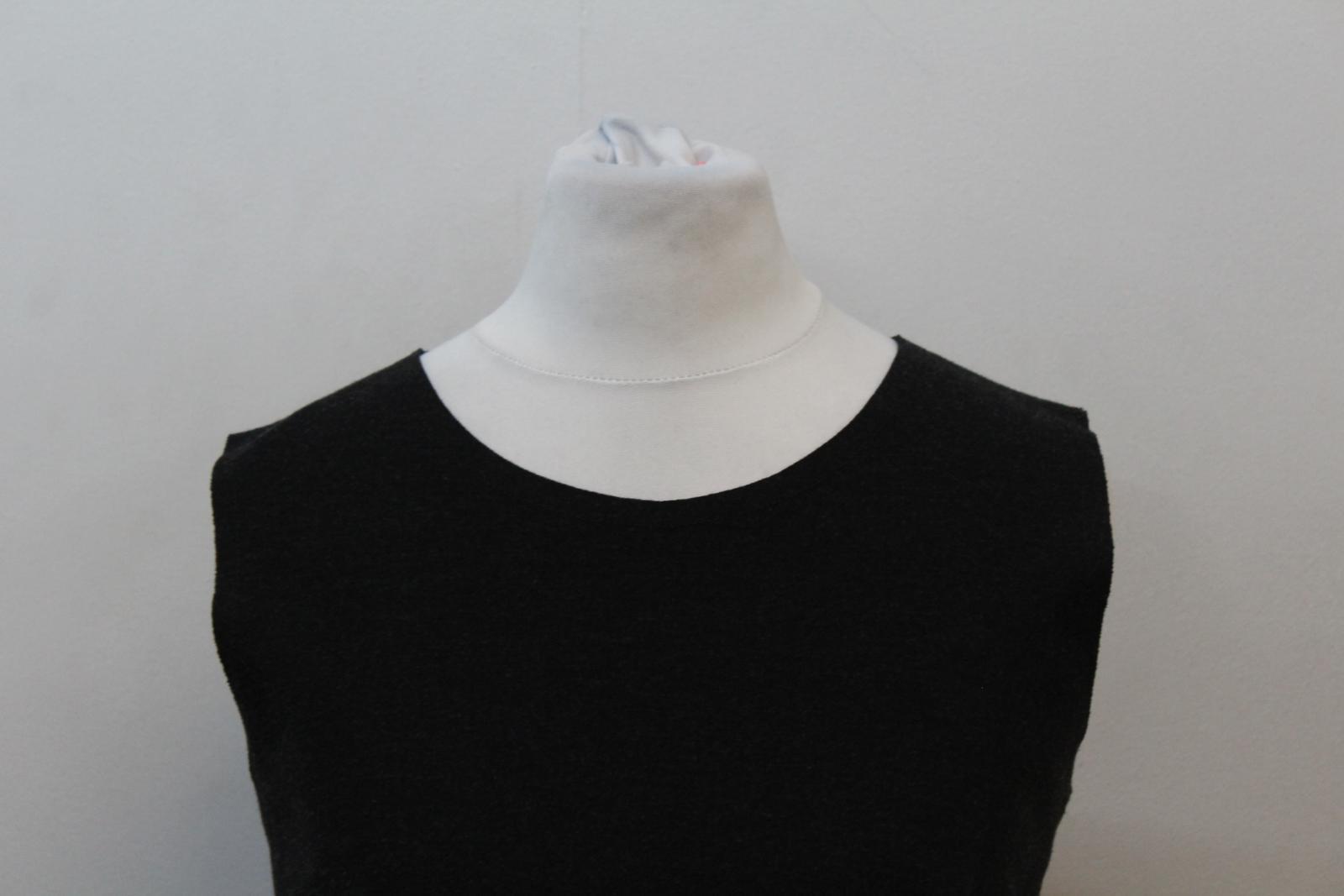 D. EXTERIOR Donna Grigio Antracite Antracite Antracite Senza Maniche Girocollo Vestito Arricciato IT42 UK10 1b01a5