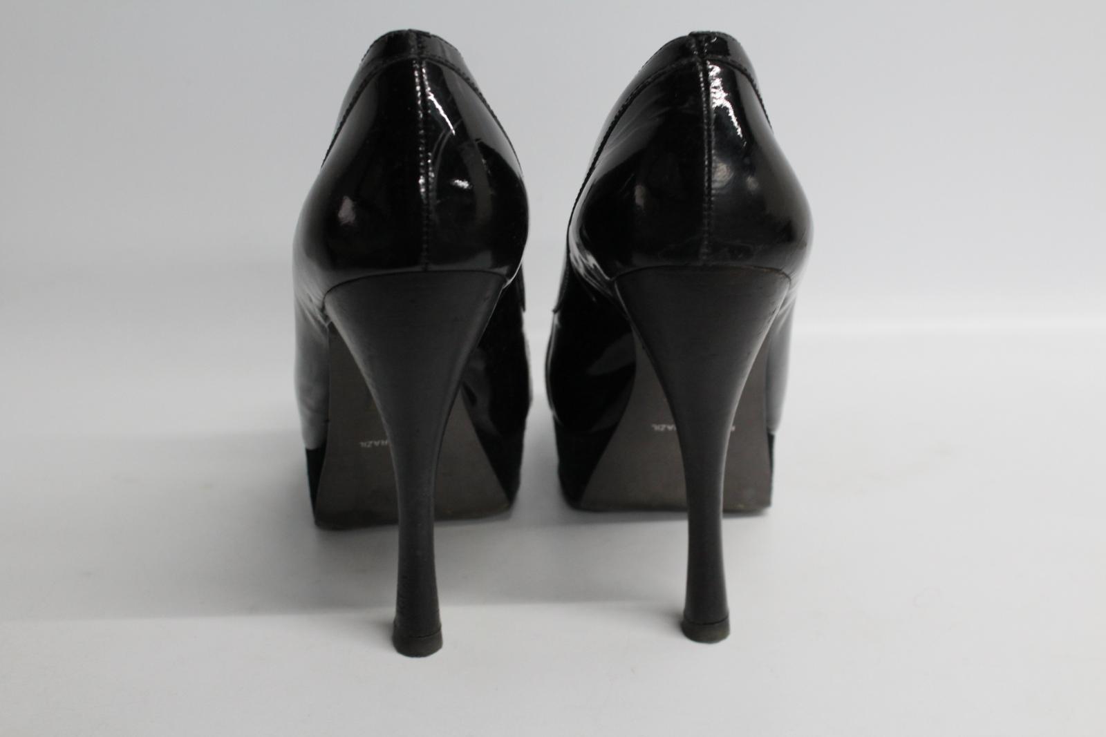 Carvela-Damas-De-Cuero-Negro-Resbalon-en-Zapatos-Tacon-Stiletto-botas-talla-UK7-EU40 miniatura 5