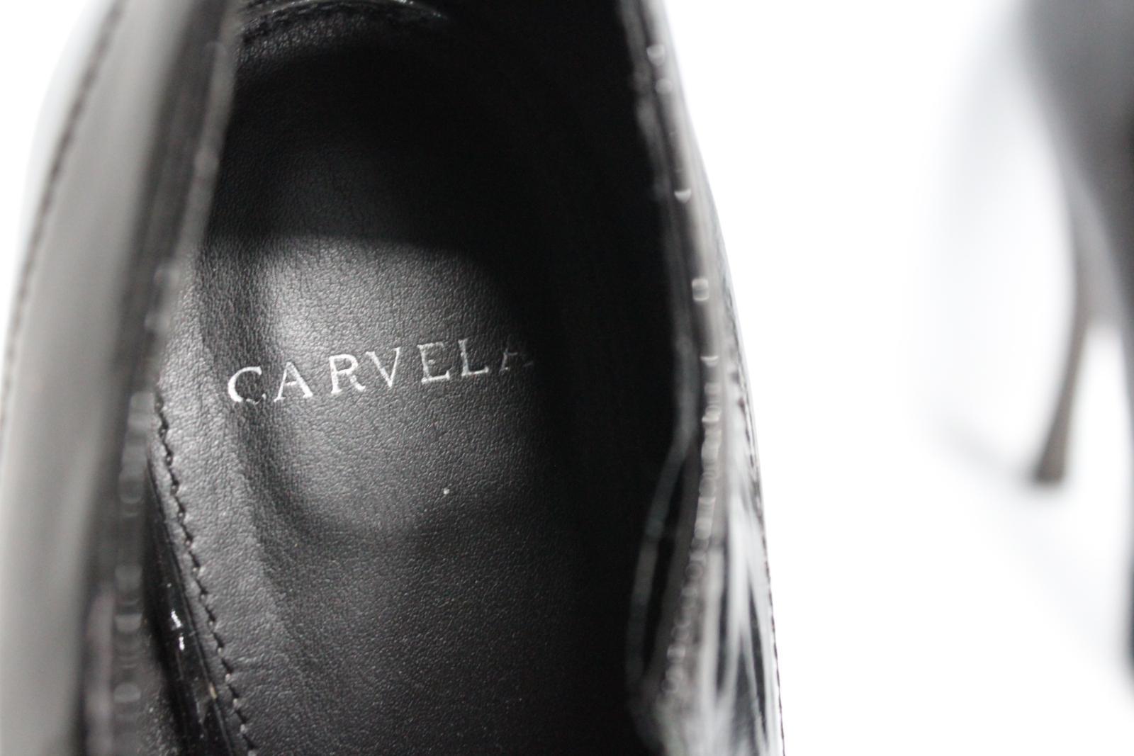 Carvela-Damas-De-Cuero-Negro-Resbalon-en-Zapatos-Tacon-Stiletto-botas-talla-UK7-EU40 miniatura 8
