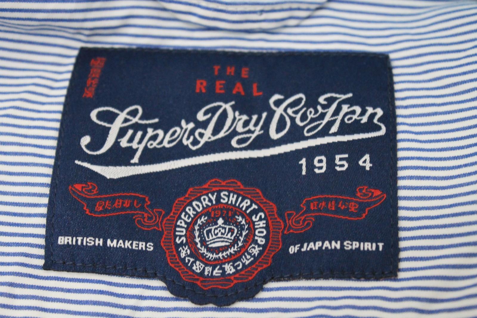 Camiseta-para-Hombre-de-Manga-Larga-Blanco-Azul-a-Rayas-Con-Cuello-Informal-Camisa-Tamano-XXL miniatura 7