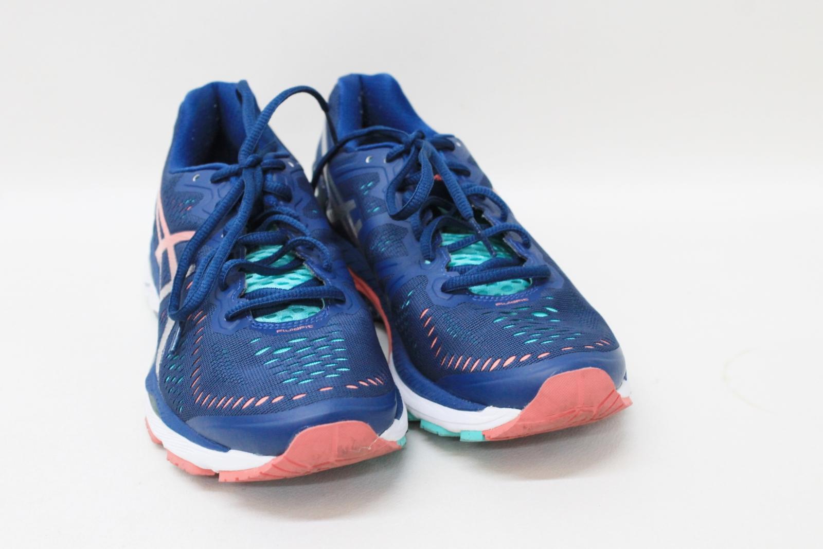 Fluid para Uk7 deporte marino cordones rosa con y Eu40 damas Fit Asics Zapatillas tamaño azul de UxR0wS0X