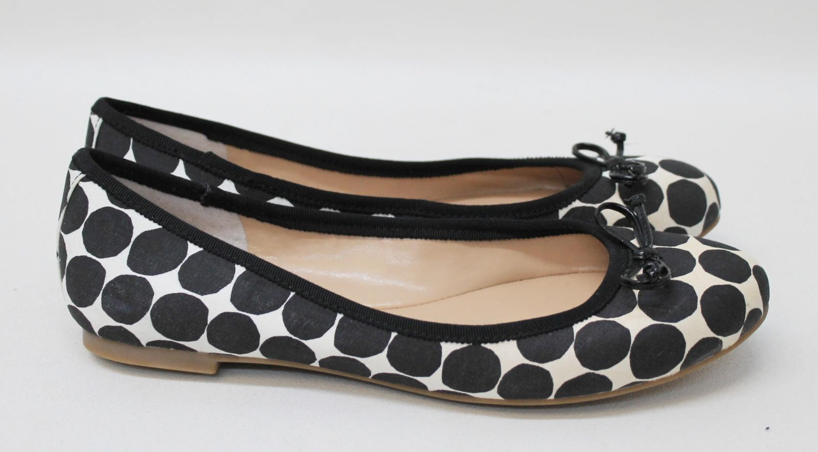 Beige Eu38 Banana Ladies Dot Republic Nwot Uk5 Shoes Ballerina Black Polka UqInZ