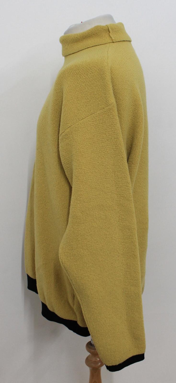 BONEVILLE Uomo Uomo Uomo Nero Giallo Limone Orlo Maglione a maniche lunghe misura XL ca. 18acce