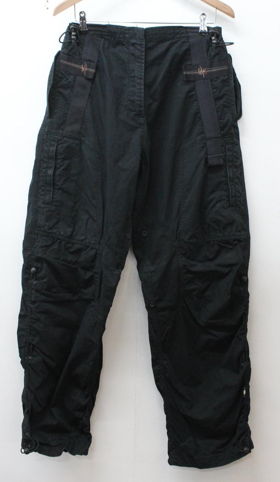 style W24 cargo noir de femmes en Uk12 Maharishi coton pour Pantalon combat L30 Eu40 4qwdxt74g