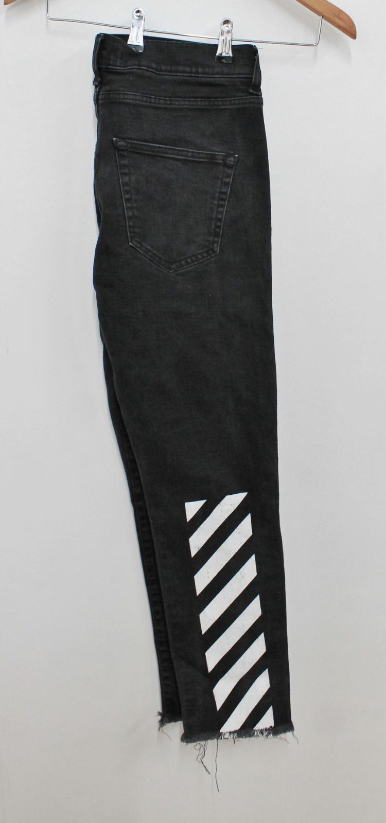 neri sfilacciati color W31 bianco in lavato da uomo stile nero L27 Jeans bordi stampati piedino con v5qzwxp