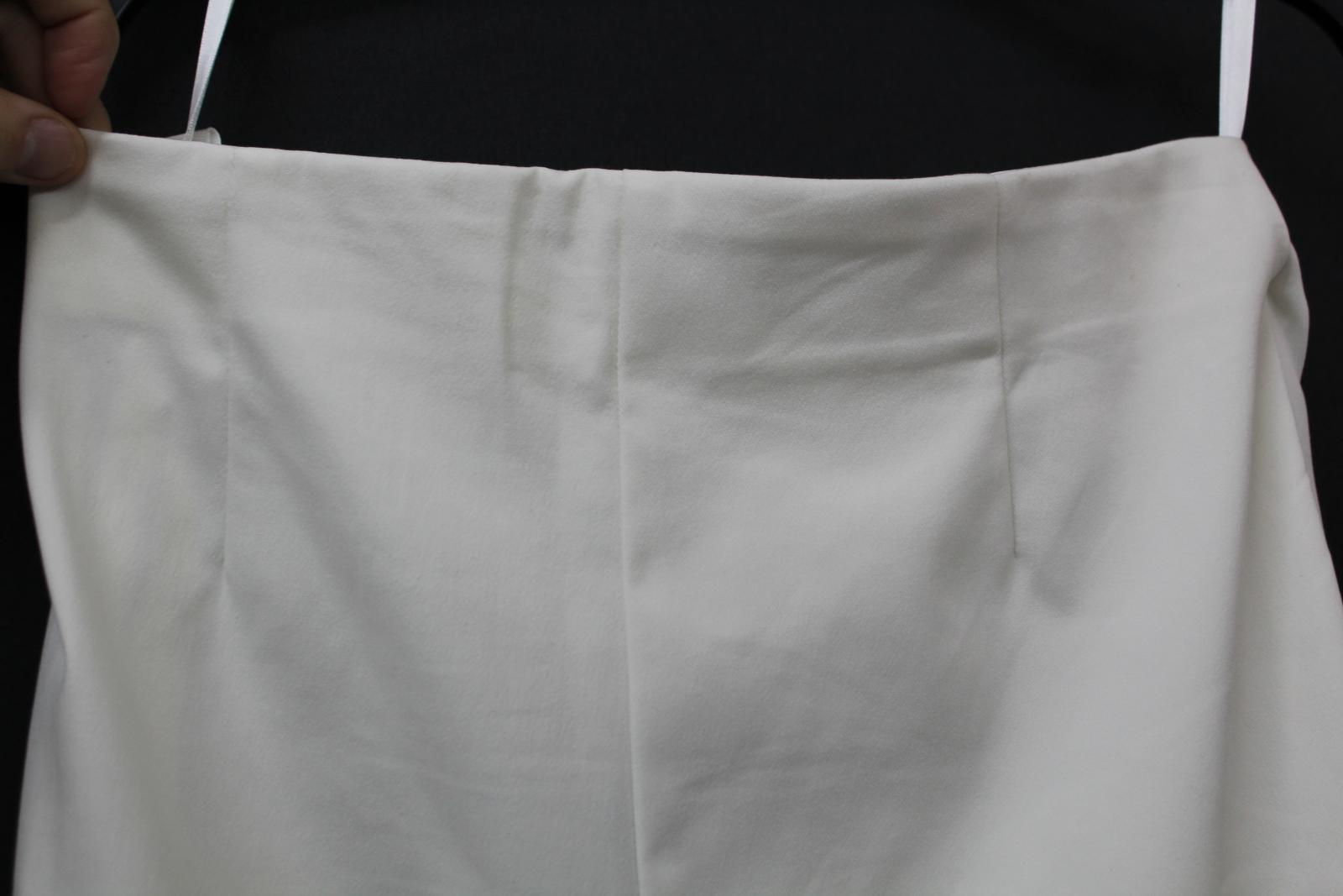 Costa-Damas-Marfil-Alexa-Algodon-Mezcla-recortada-High-rise-Pantalones-Cremallera-Lateral-UK14 miniatura 6