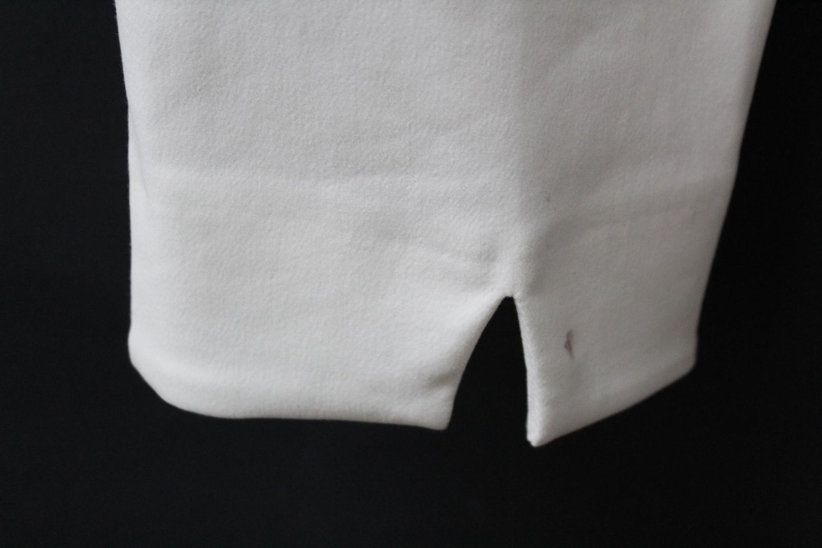 Costa-Damas-Marfil-Alexa-Algodon-Mezcla-recortada-High-rise-Pantalones-Cremallera-Lateral-UK14 miniatura 11