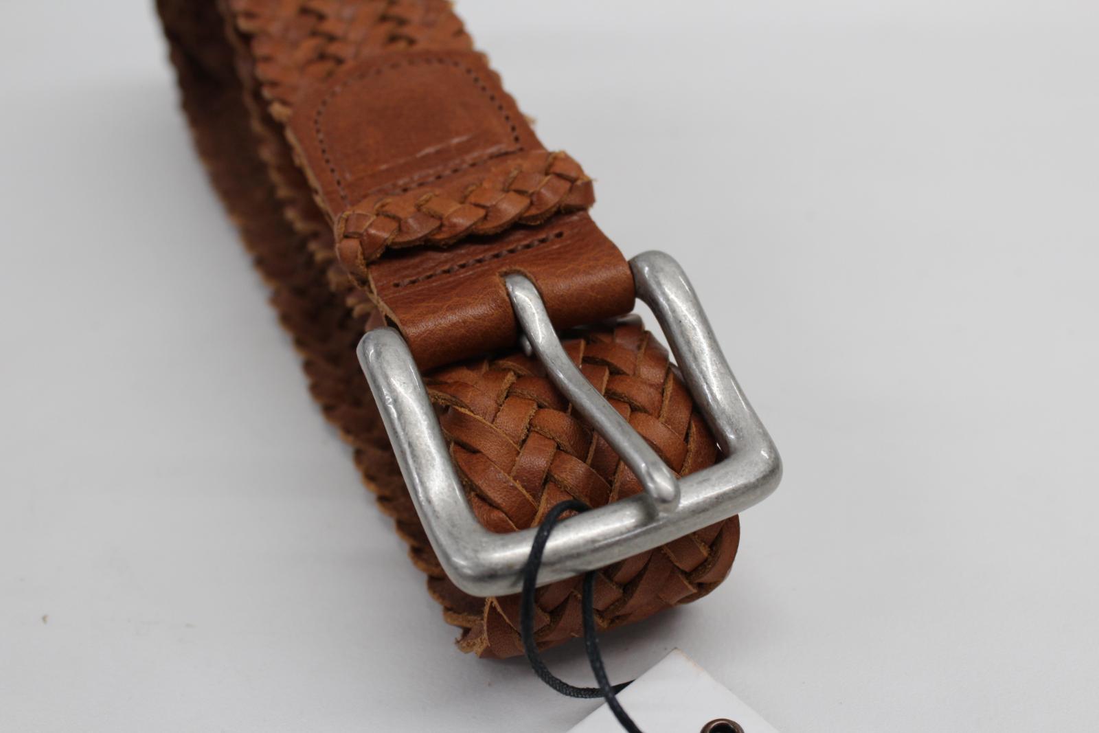 NUOVO-R-M-Williams-in-Pelle-Marrone-Intrecciato-TESSUTA-PIN-buckke-bambra-Cintura-Taglia-32-034 miniatura 6