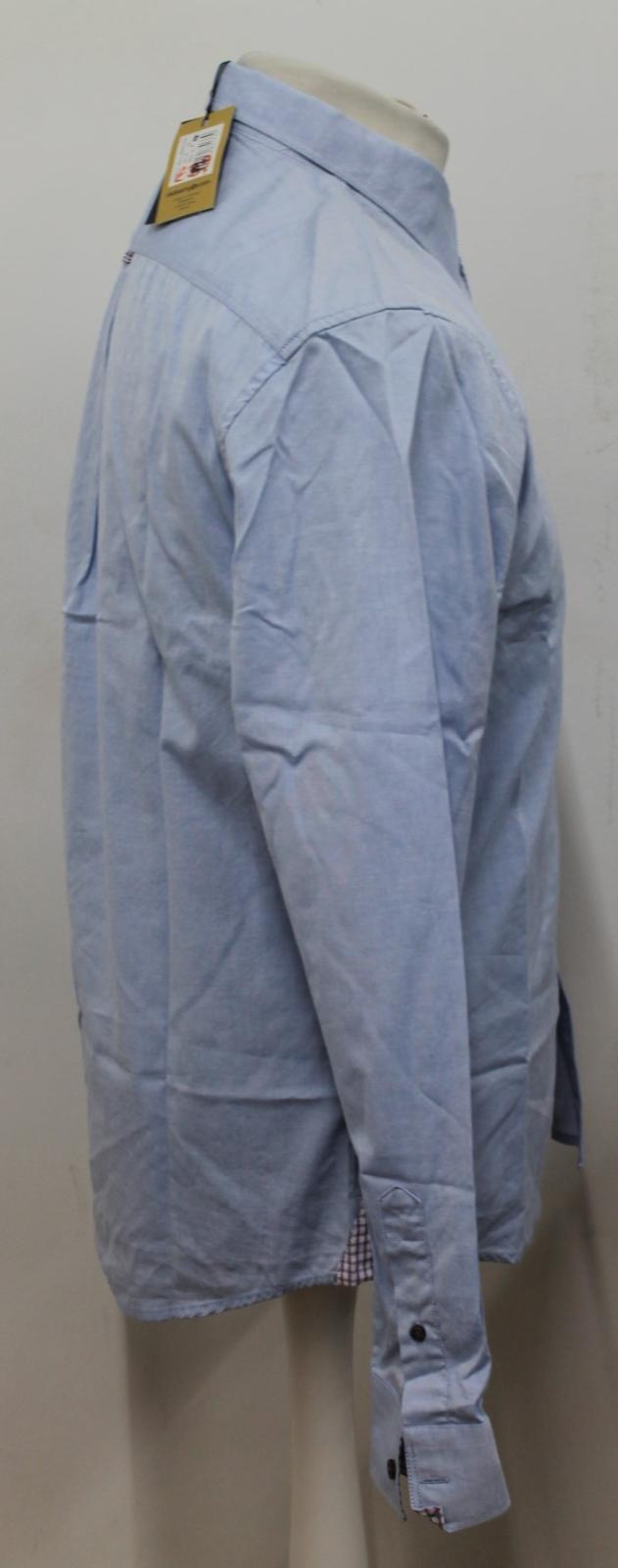 BNWT Dubarry uomo ballsbridge blu manica lunga puro cotone Camicia Camicia Camicia Taglia S c993ad