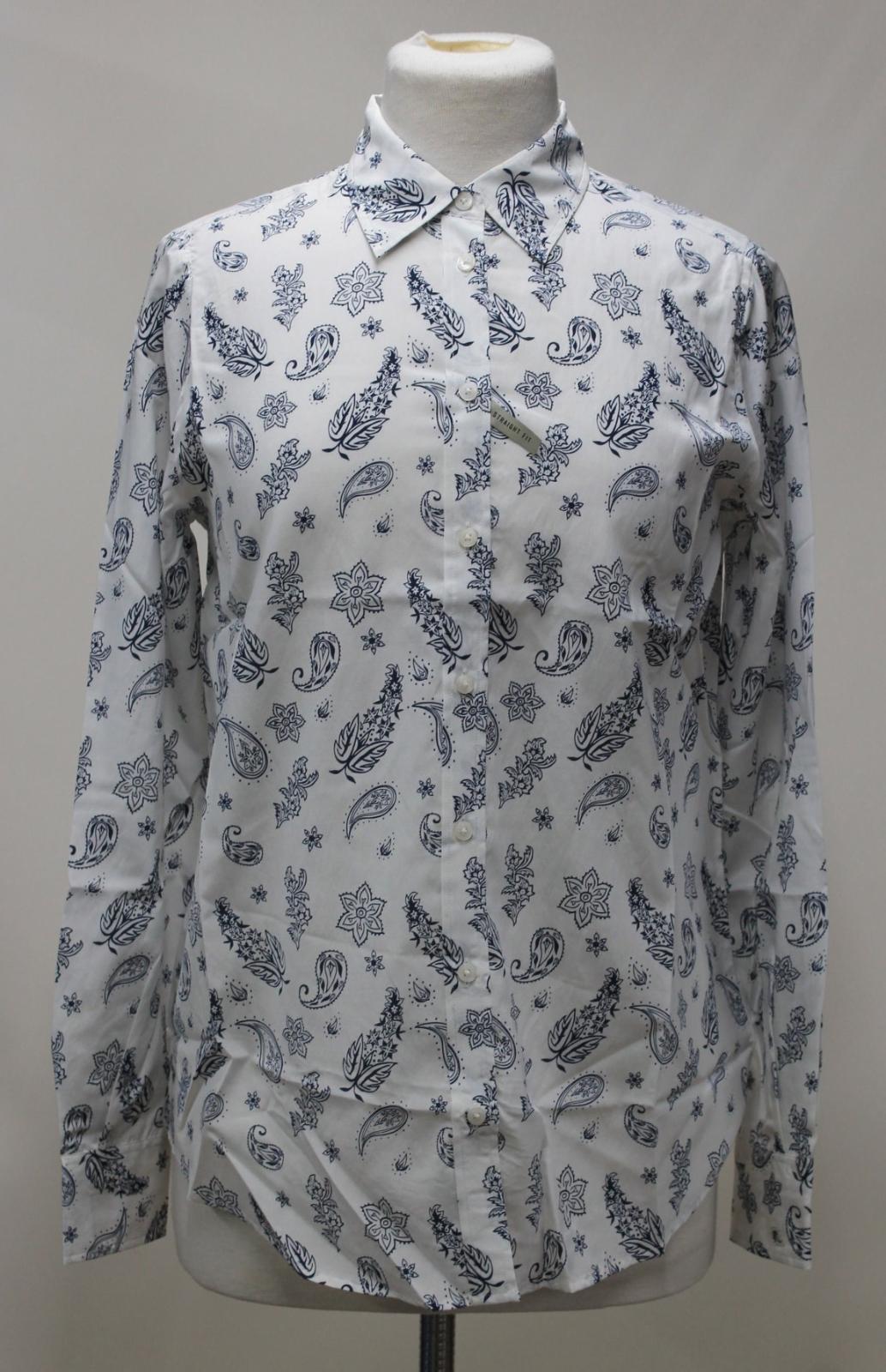 Ladies Blend Collared White Williams Silk R M Bnwt Uk12 Shirt Print Floral YCqtzwE