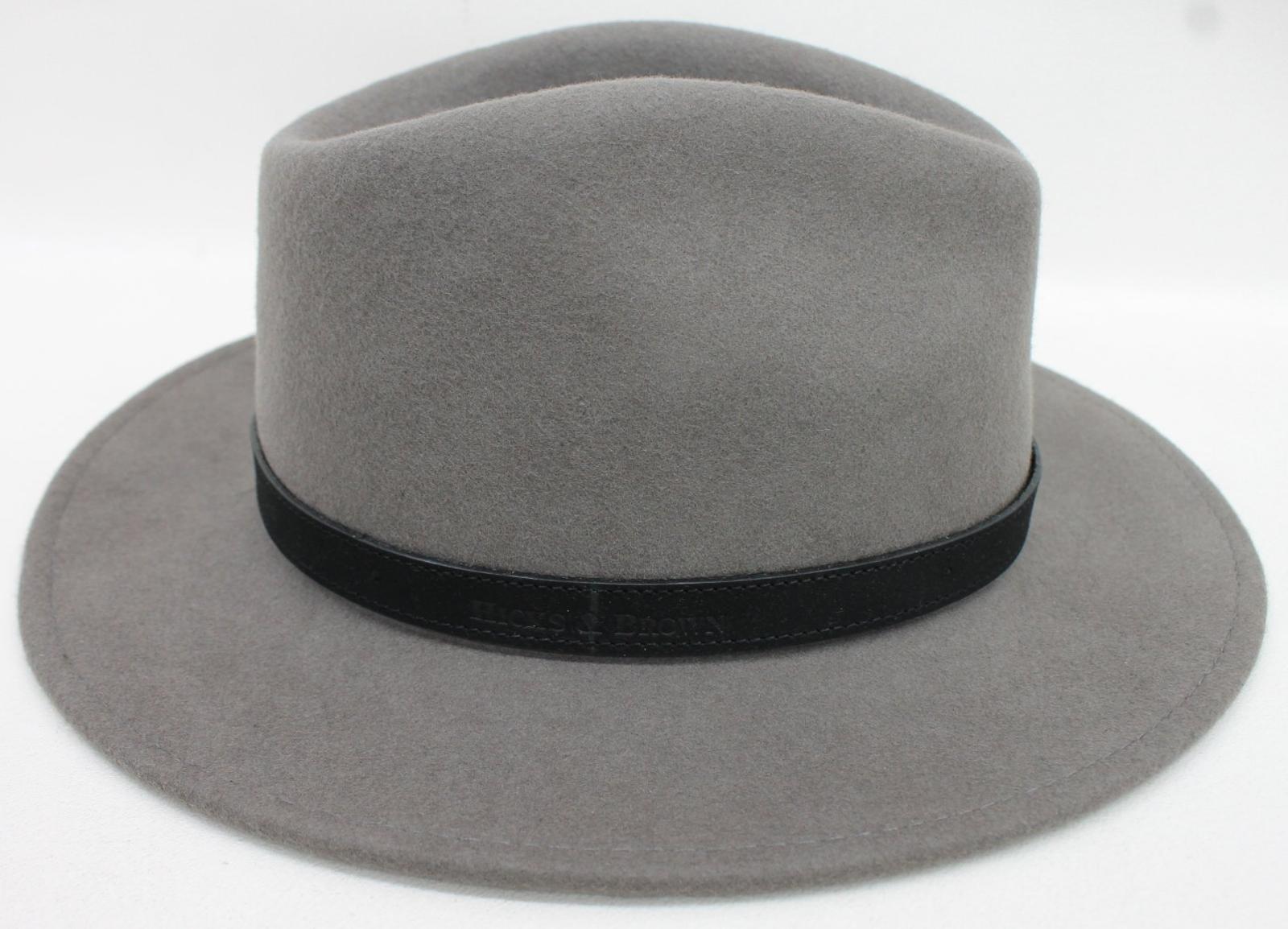 1a715faf4896fb HICKS & BROWN The Suffolk Fedora Ladies Grey Wool Felt Feather ...
