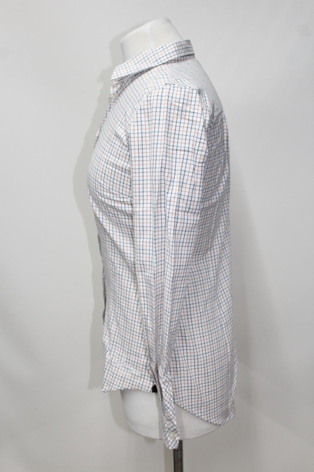 Long Ladies Dubarry White Bnwt Cotton Eu34 Sleeve Elderflower Shirt Check Uk8 gCwa7