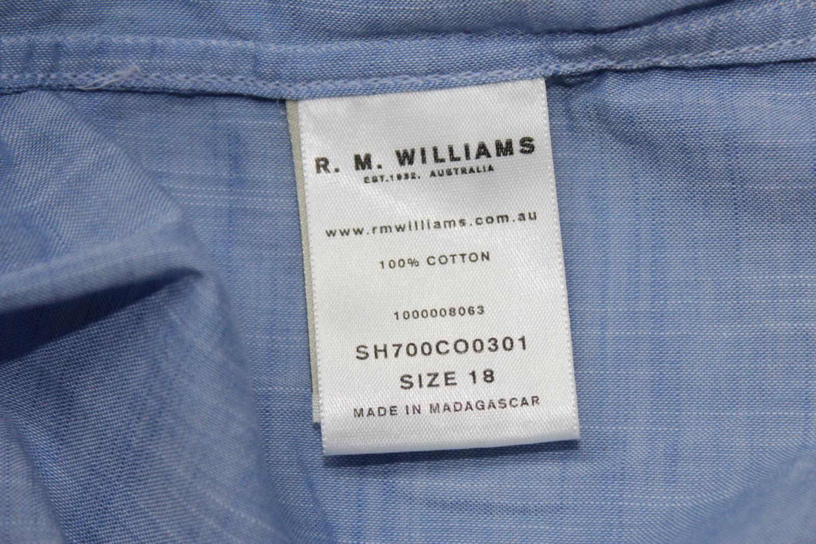 BNWT R.M. WILLIAM Rachel Sleeved Ladies Blau Cotton Long Sleeved Rachel Button Shirt UK18 610ed9