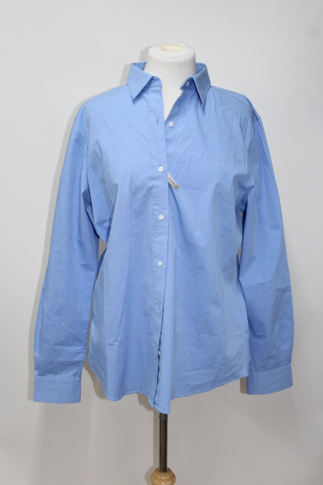 Nicole Bnwt Williams R Cotton Cornflower Blue Uk16 Stretch Shirt Ladies m wwI4a