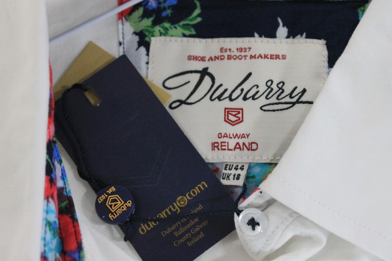 BNWT Dubarry Donna Donna Donna PETUNIA Bianco Cotone Floreale Trim Colletto Camicia Taglia UK18 da8204
