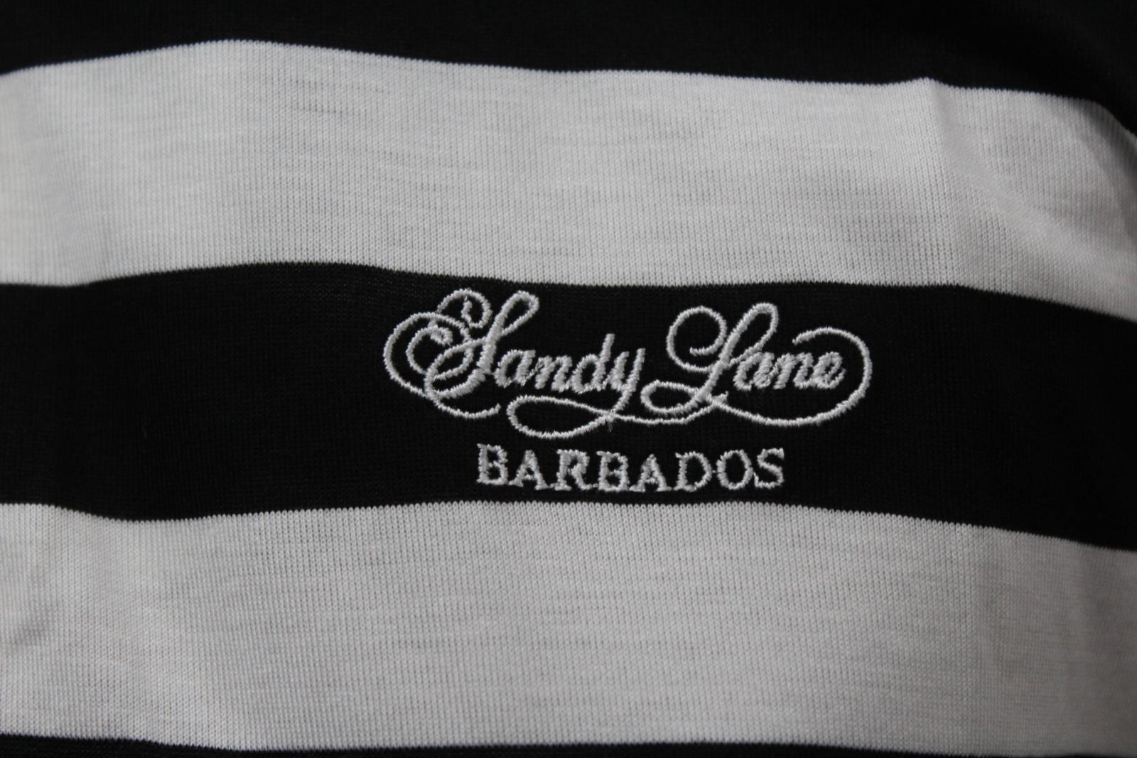 BURBERRY-GOLF-Ladies-Black-White-Cotton-Short-Sleeve-Striped-Polo-Shirt-S-BNWT thumbnail 8