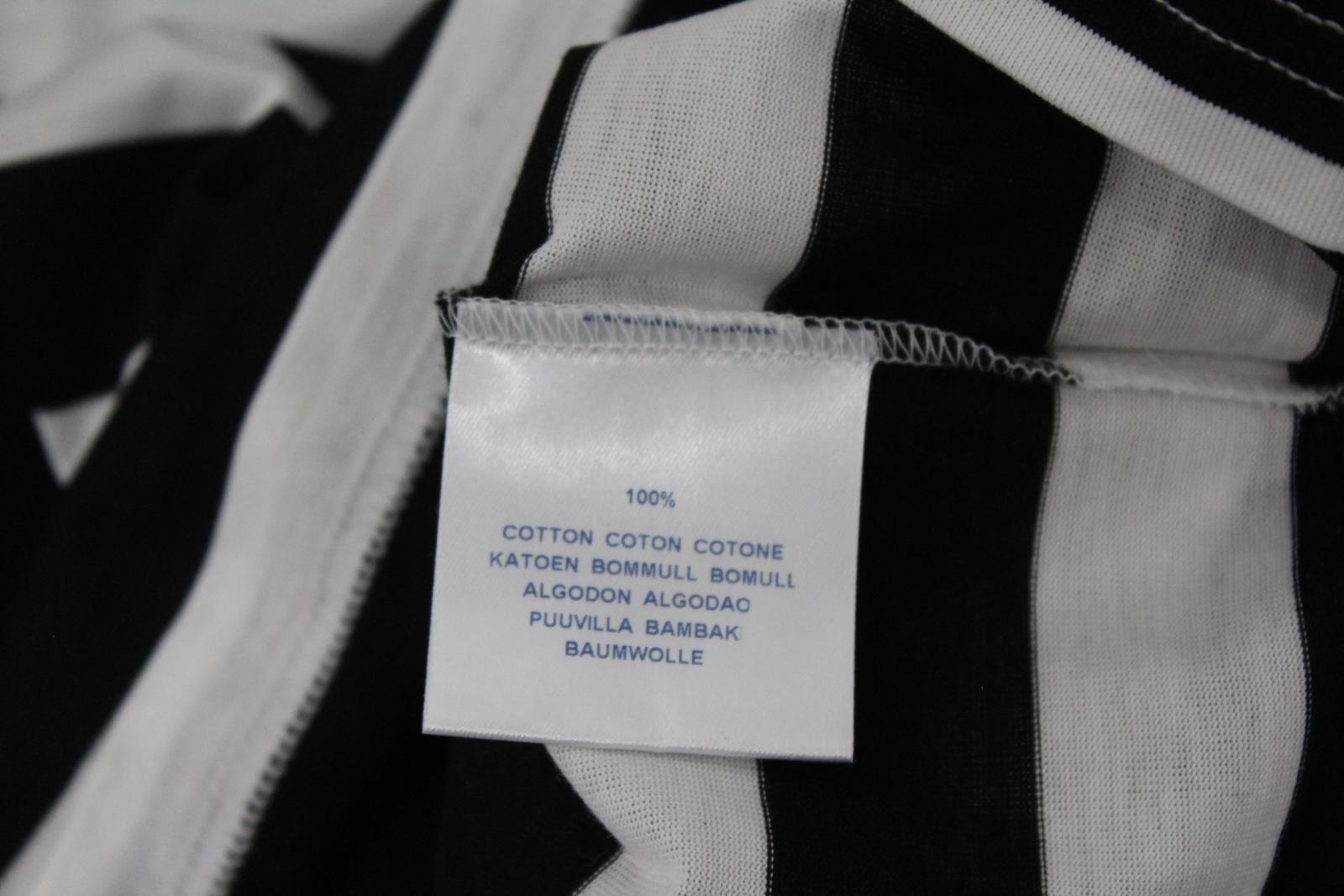 BURBERRY-GOLF-Ladies-Black-White-Cotton-Short-Sleeve-Striped-Polo-Shirt-S-BNWT thumbnail 10
