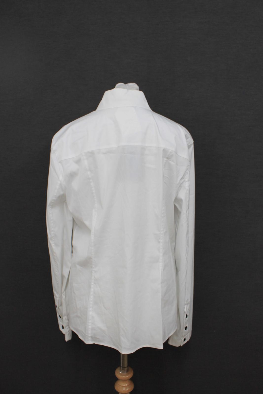 Escada De40 Detailed Size Bnwt Black Ladies Long Lace Shirt Sleeved Uk14 White vddq7g