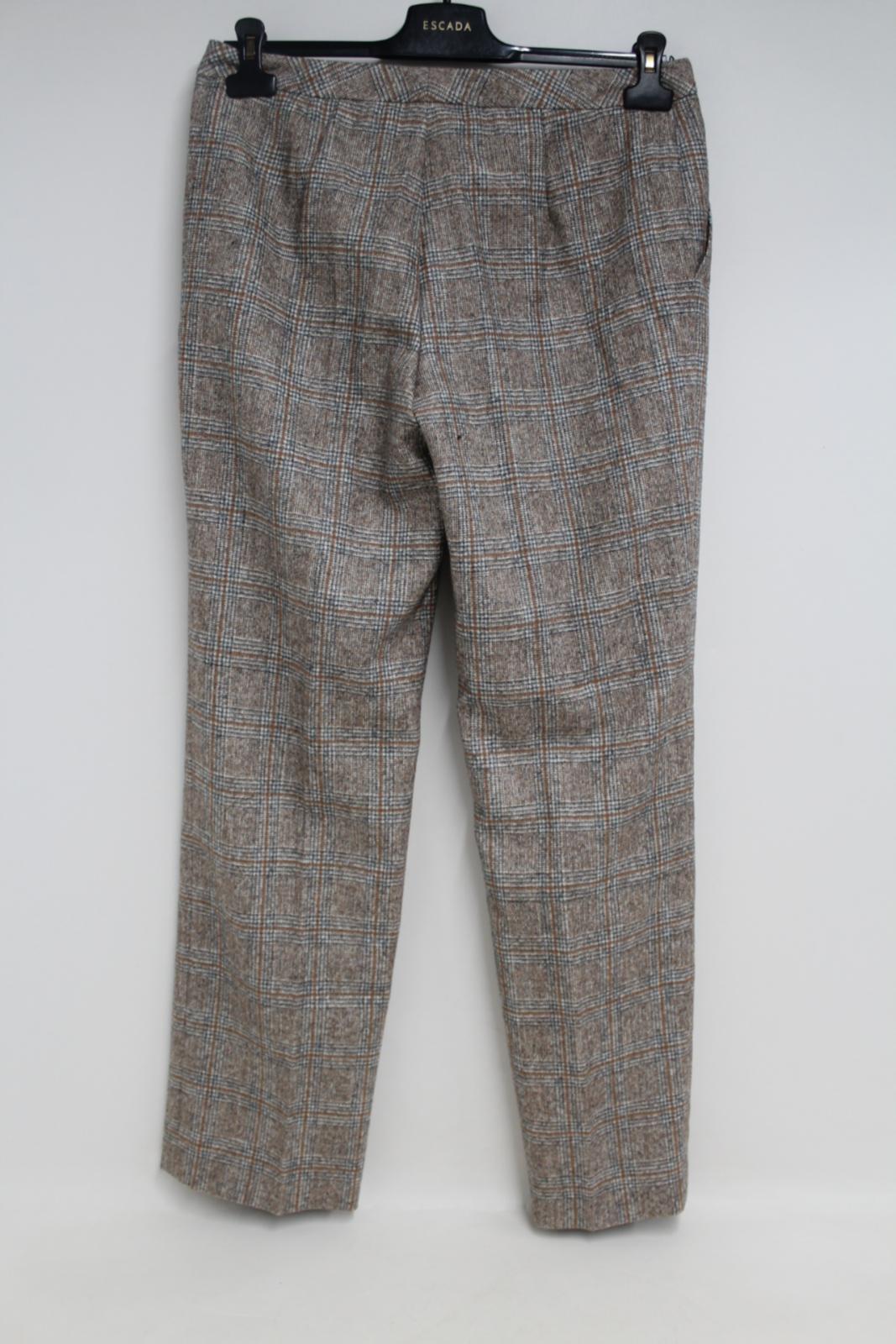 marrone su taglia W32 Uk12 40 stampa da misura Escada quadrata donna Pantalone Eu38 L31 con q18dq
