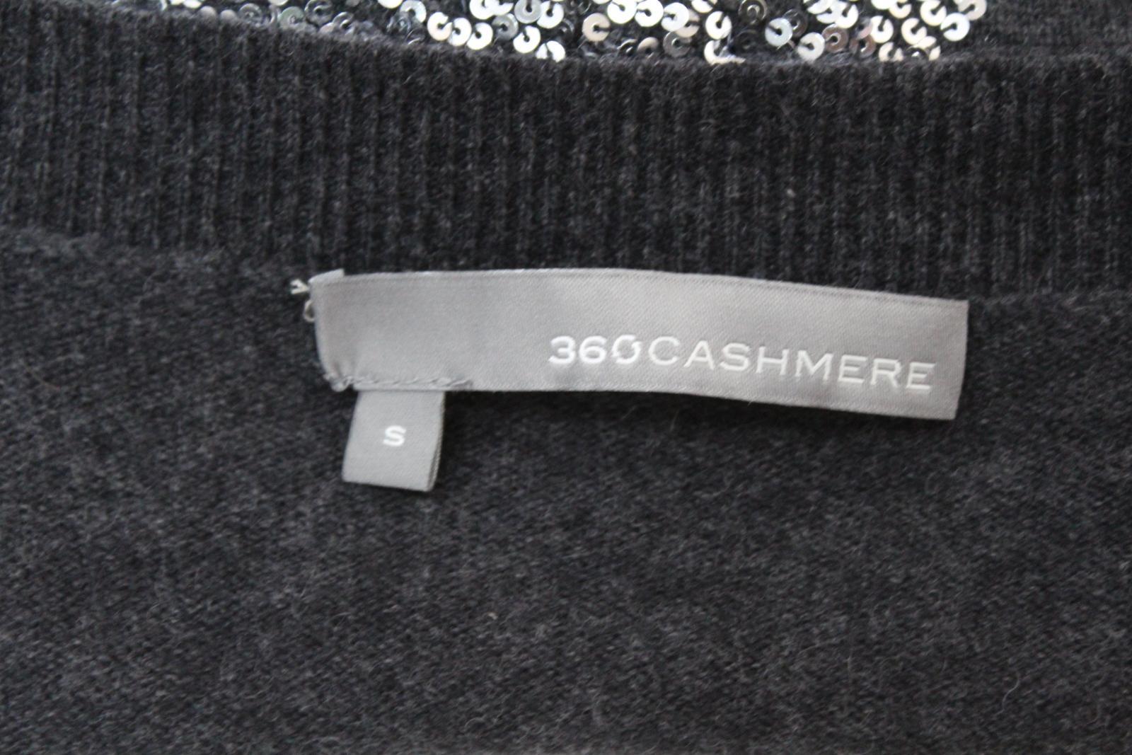 360-cashmere-femme-en-laine-melangee-gris-a-manches-longues-col-V-Tricot-Cardigan-S miniature 8