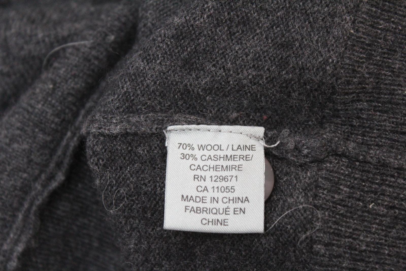 360-cashmere-femme-en-laine-melangee-gris-a-manches-longues-col-V-Tricot-Cardigan-S miniature 9