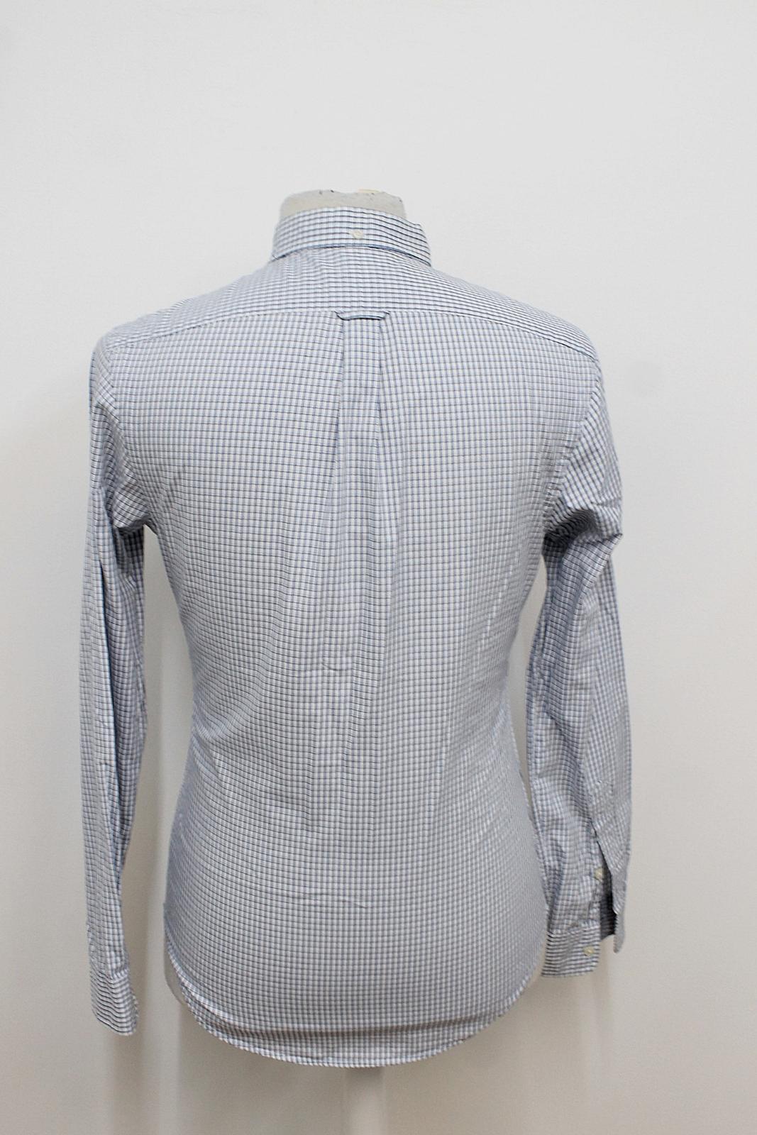 Polo-Ralph-Lauren-Para-Hombres-Blanco-Negro-Azul-Camisa-De-Patron-De-Cuadros-Slim-Fit-Talla-S miniatura 4