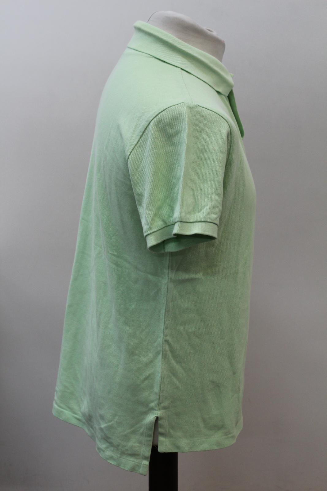 Polo-by-Ralph-Lauren-Hombre-Verde-De-Algodon-Manga-Corta-Con-Cuello-Camisa-Polo-Talla-L miniatura 4