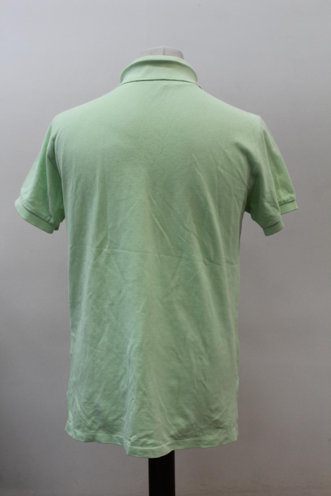 Polo-by-Ralph-Lauren-Hombre-Verde-De-Algodon-Manga-Corta-Con-Cuello-Camisa-Polo-Talla-L miniatura 5