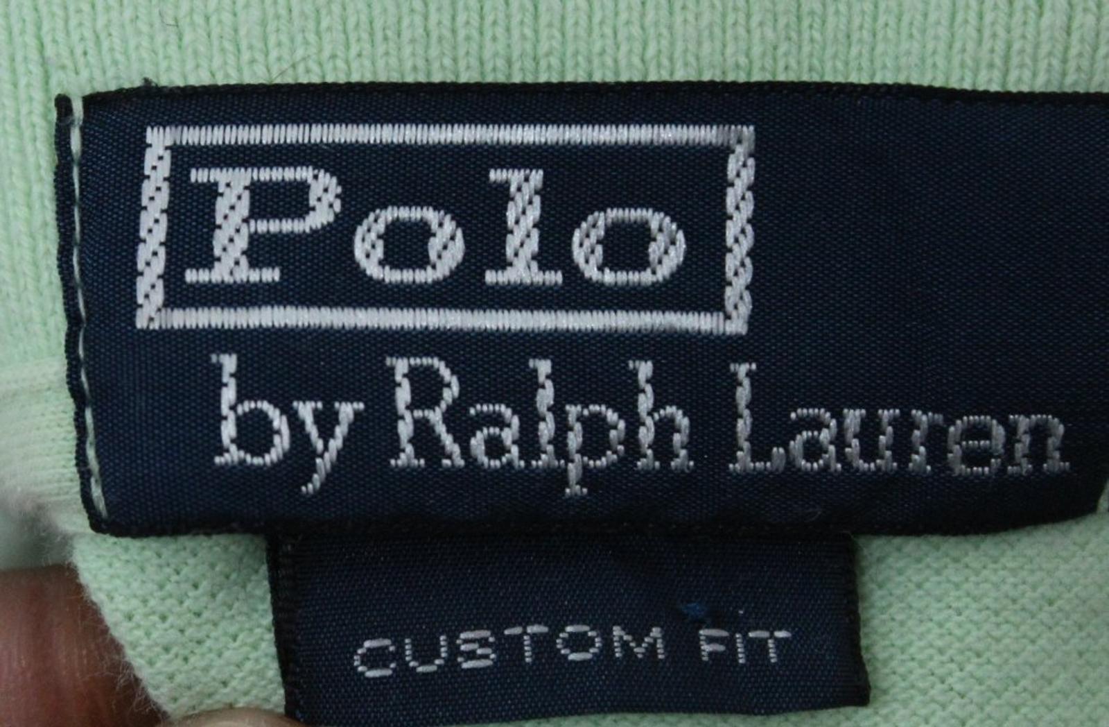 Polo-by-Ralph-Lauren-Hombre-Verde-De-Algodon-Manga-Corta-Con-Cuello-Camisa-Polo-Talla-L miniatura 8