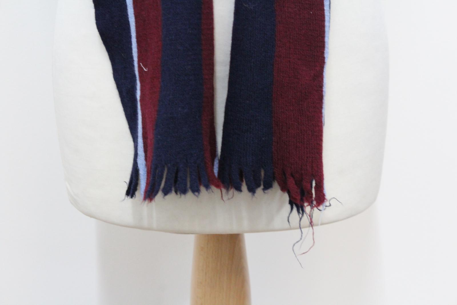 Hilltop-Homme-Bleu-amp-Rouge-Laine-depouille-rectangulaire-Tricot-echarpe-152-cm-x-20-cm miniature 4