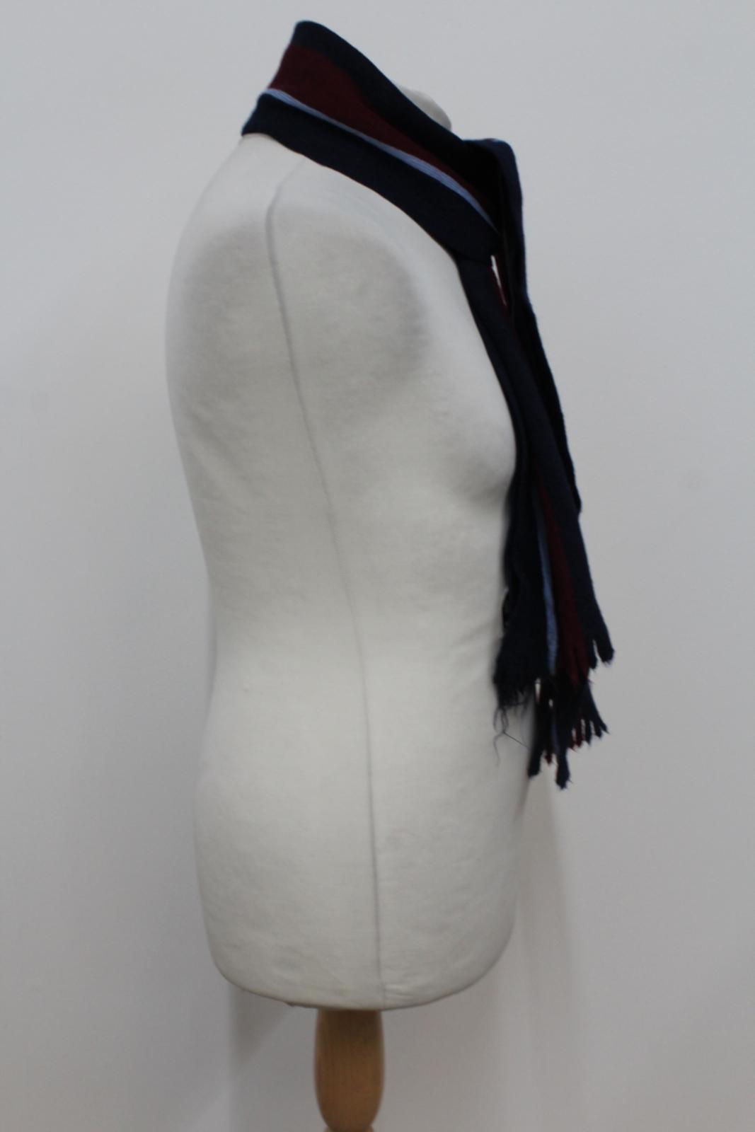 Hilltop-Homme-Bleu-amp-Rouge-Laine-depouille-rectangulaire-Tricot-echarpe-152-cm-x-20-cm miniature 7