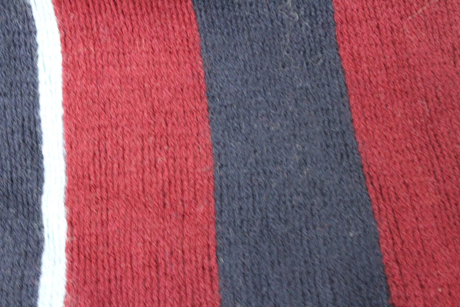 Hilltop-Homme-Bleu-amp-Rouge-Laine-depouille-rectangulaire-Tricot-echarpe-152-cm-x-20-cm miniature 10