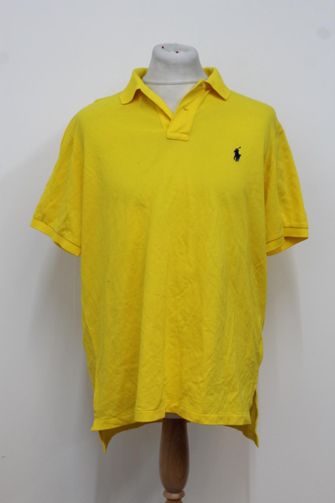 Ralph-Lauren-Polo-para-hombre-de-Amarillo-De-Algodon-Manga-Corta-Camisa-Polo-De-Ajuste-Personalizado miniatura 2