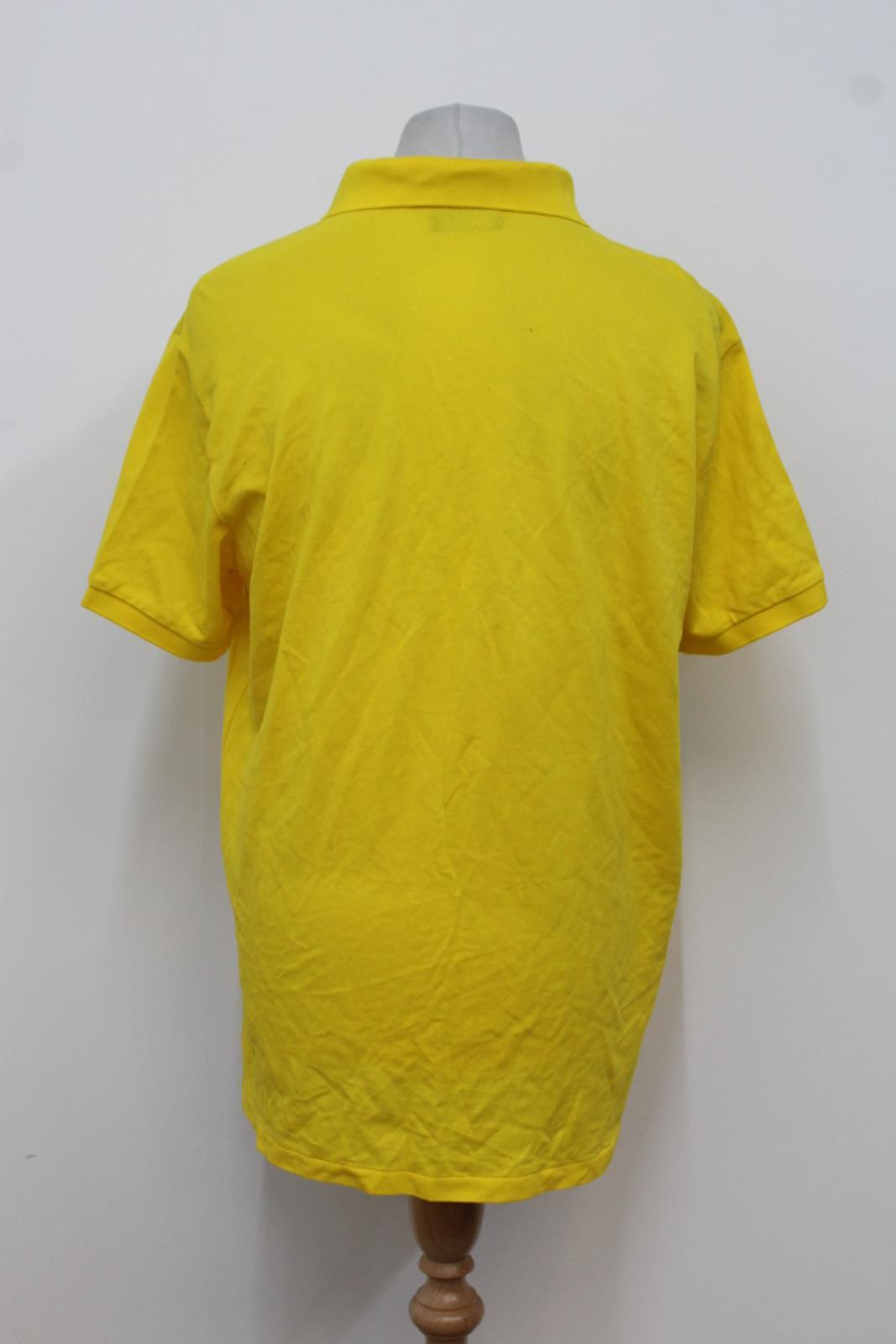 Ralph-Lauren-Polo-para-hombre-de-Amarillo-De-Algodon-Manga-Corta-Camisa-Polo-De-Ajuste-Personalizado miniatura 4