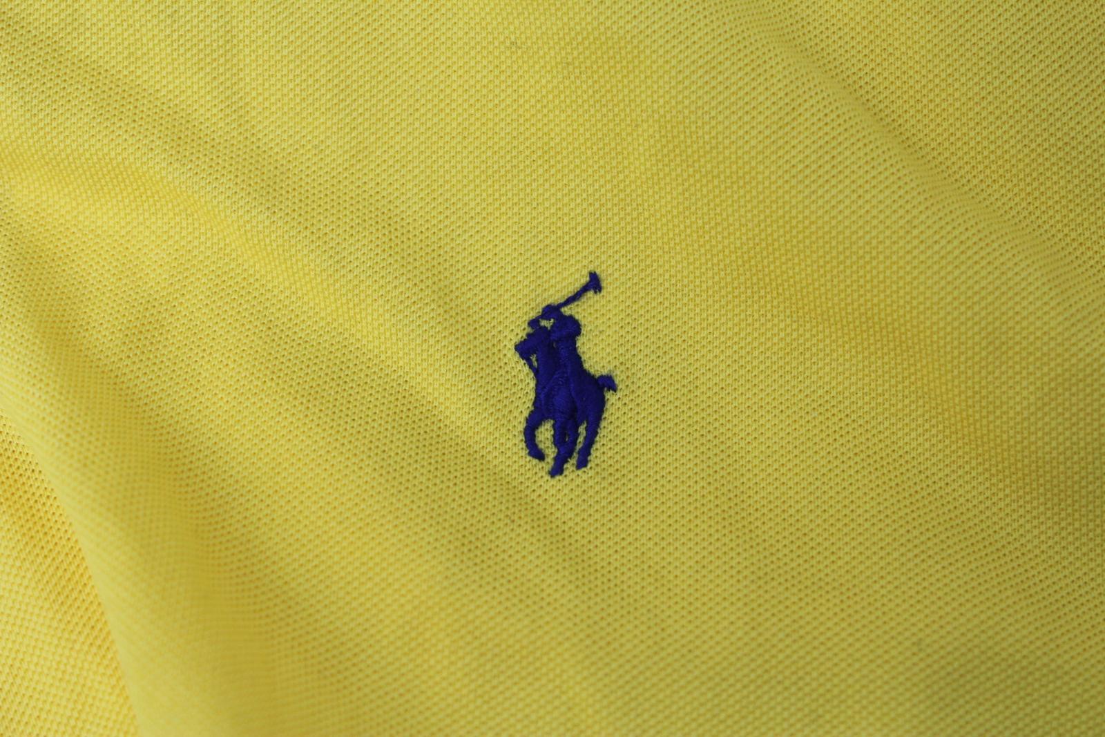 Ralph-Lauren-Polo-para-hombre-de-Amarillo-De-Algodon-Manga-Corta-Camisa-Polo-De-Ajuste-Personalizado miniatura 7
