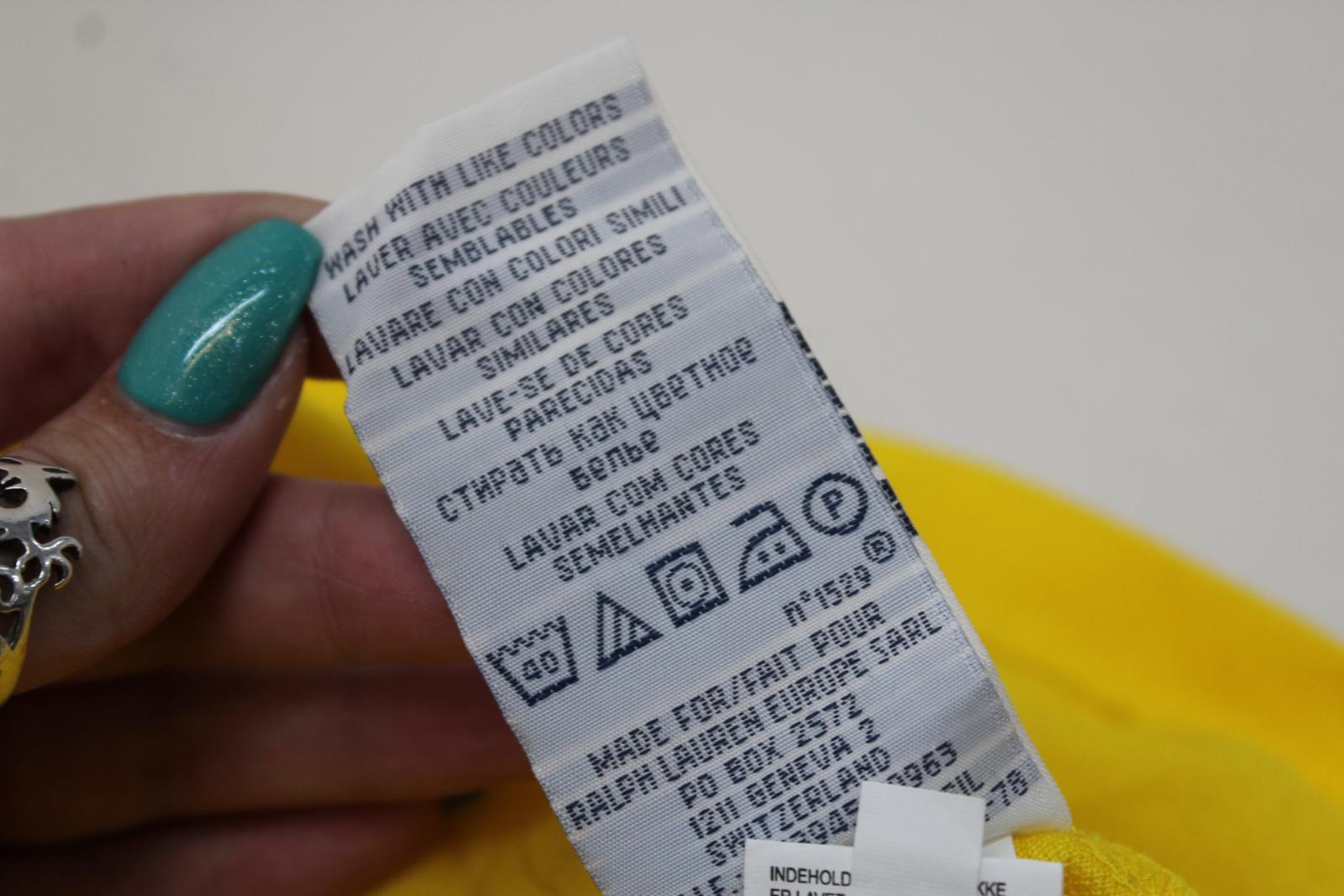 Ralph-Lauren-Polo-para-hombre-de-Amarillo-De-Algodon-Manga-Corta-Camisa-Polo-De-Ajuste-Personalizado miniatura 9