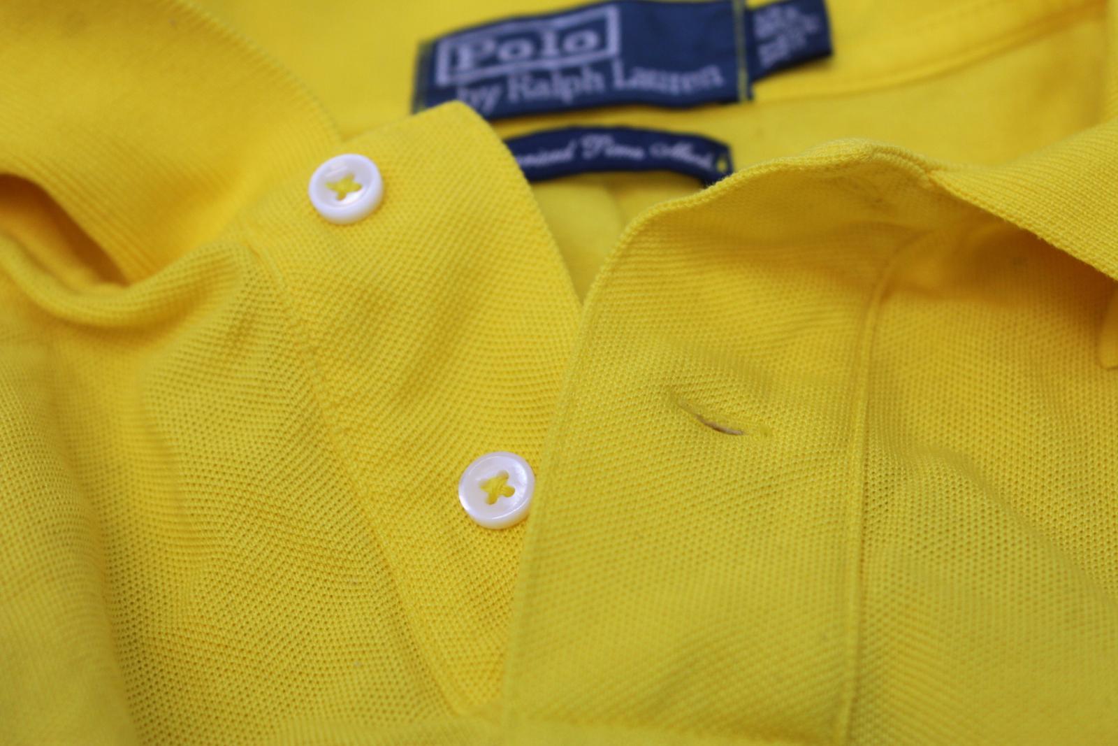 Ralph-Lauren-Polo-para-hombre-de-Amarillo-De-Algodon-Manga-Corta-Camisa-Polo-De-Ajuste-Personalizado miniatura 10