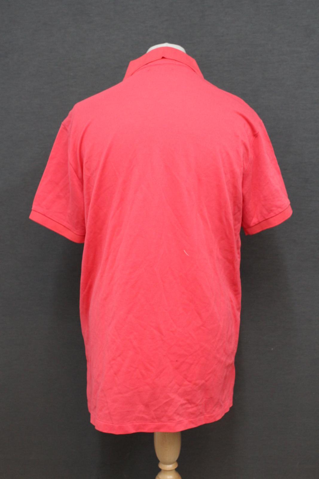Ralph-Lauren-Polo-para-hombre-de-color-rosa-de-algodon-Manga-Corta-Camisa-Polo-De-Ajuste miniatura 4